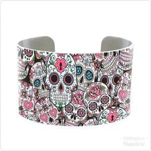 Jewelry - Sugar Skulls Cuff Bracelet